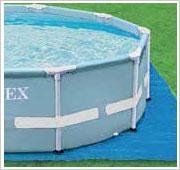 Intex Prism Frame Pool Filterpumpe Bodenplane