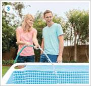 Intex Pris Frame Pool aufbauen 3