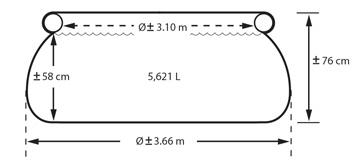Intex easy set formaten - 366 x 76cm