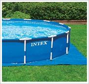 Intex Metal Frame Pool Filterpumpe Bodenplane