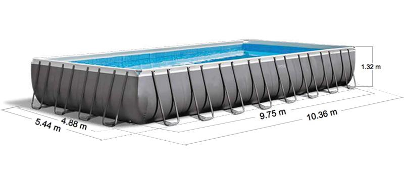 intex ultra xtr quadra frame pool 975x488 cm. Black Bedroom Furniture Sets. Home Design Ideas