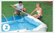 Intex ultra Frame Pool Aufbauen 2