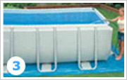 Intex ultra Frame Pool Aufbauen 3