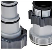 Intex Salzwassersystem: Inklusive Adapter für 32mm-Anschlüsse