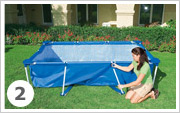 Intex Metal Frame Pool Aufbauen 2