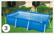 Intex Metal Frame Pool aufbauen 3