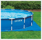 Intex Metal Frame Pool Filterpumpe Bodenplane