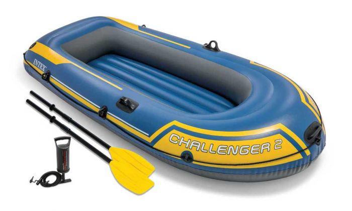 Schlauchboot-Intex---Challenger-2-Set