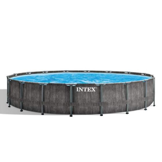 Intex-Prism-Frame-Greywood-Premium-Pool---Ø-549-x-122-cm