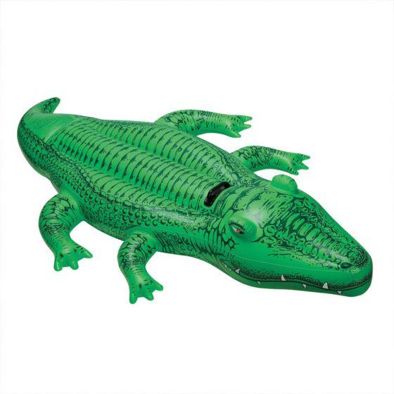 Aufblasbares-Krokodil,-168x86cm,-stabiler-Haltegriff
