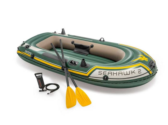 INTEX™-Aufblasboot---Seahawk-2-Set-(inkl.-Paddel-&-Pumpe)