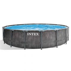 Intex-Prism-Frame-Greywood-Premium-Pool---Ø-457-x-122-cm