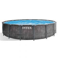 Intex-Prism-Frame-Greywood-Premium-Pool---Ø-549-x-122-cm