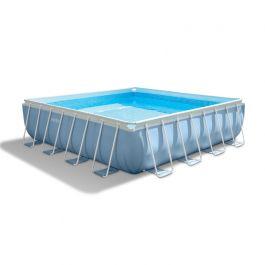 Intex prism frame square pool 488 x 488 cm for Zwembad vierkant intex