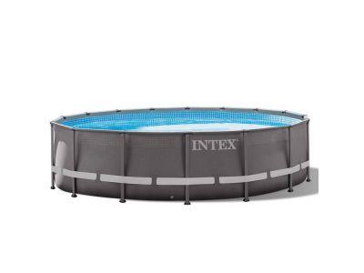 intex ultra frame pool 488x122 cm mit sandfilteranlage. Black Bedroom Furniture Sets. Home Design Ideas