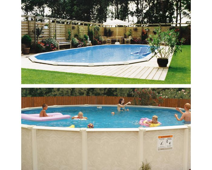 Stahlwandpool set century 730 x 360 cm oval for Stahlwandpool set angebote