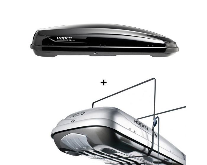 Dachbox Hapro Traxer 6.6 schwarz glänzend - 410 L Autobox