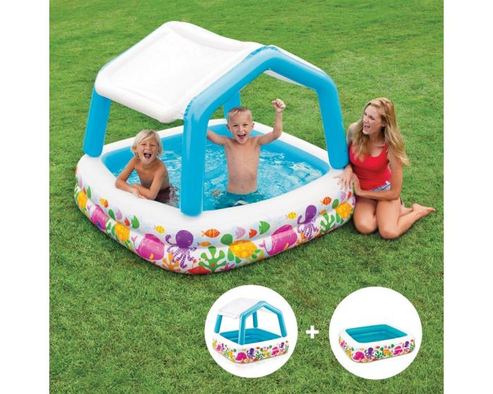 Intex Kinderpool – Sun Shade Pool (abnehmbares Dach)
