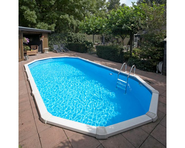 Stahlwandpool set sunlake 610 x 360 cm oval for Stahlwandpool set angebote