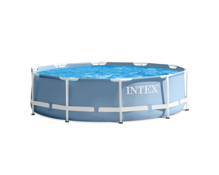 Intex prism frame pool 305 cm for Ovaler pool zum aufstellen