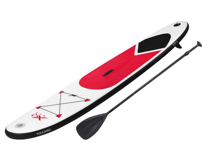 XQmax aufblasbares Stand up Paddle Board mit Zubehör rot