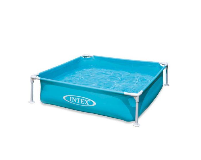 Intex Mini Frame Planschbecken – blau – 122 x 122 cm