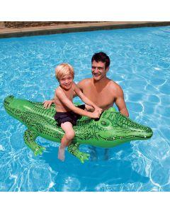 Aufblasbares Krokodil, 168x86cm, stabiler Haltegriff
