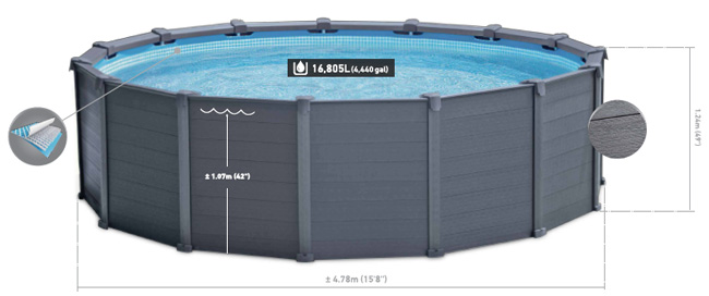 intex graphite panel pool kaufen. Black Bedroom Furniture Sets. Home Design Ideas