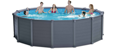 intex graphite panel pool 478 cm komplettset aufstellpool ebay. Black Bedroom Furniture Sets. Home Design Ideas